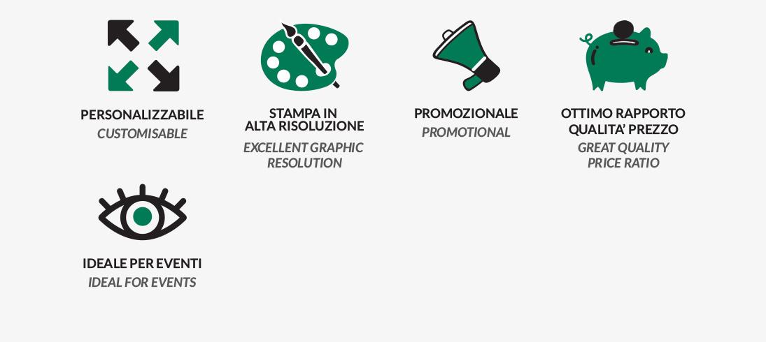 personalizzabile alta risoluzione promozionale qualita prezzo eventi