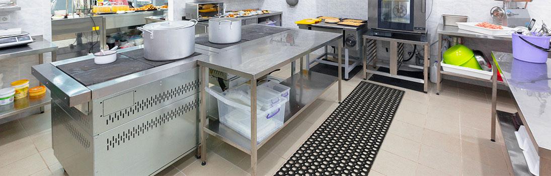 Zerbino Robust in gomma compos con giunti cucine industriali
