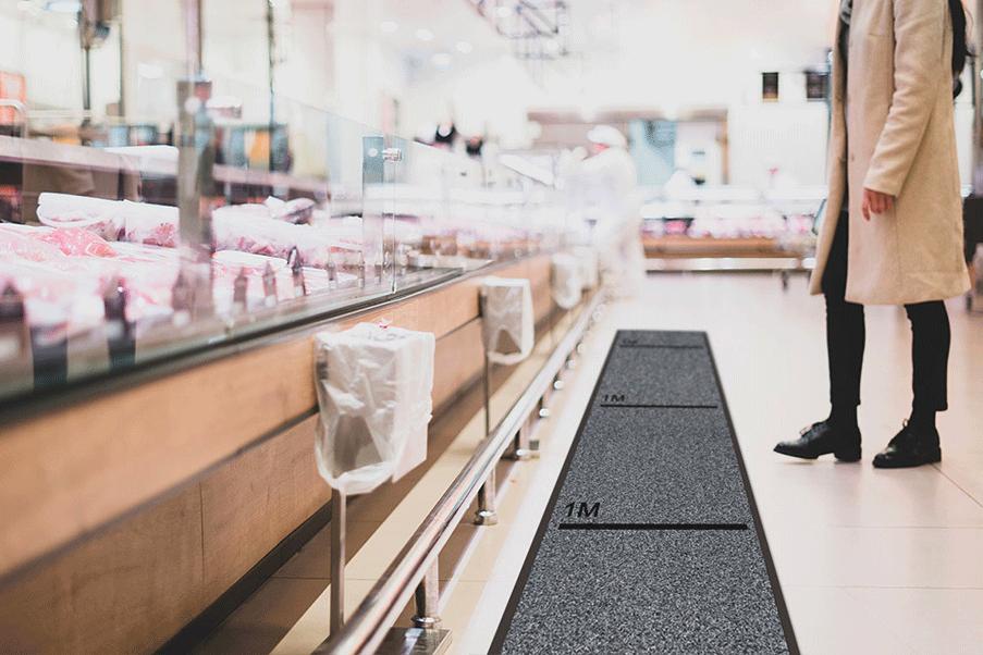 tappeto indicazioni igieniche