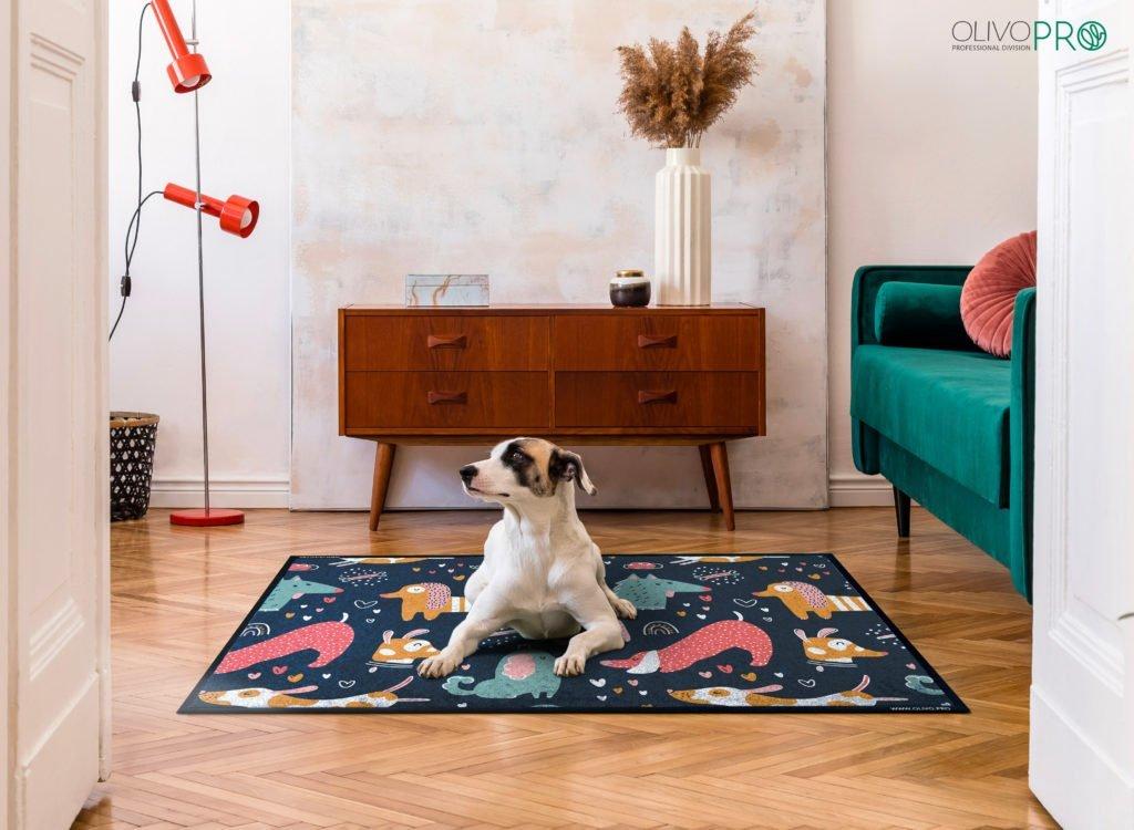 Tappeto personalizzato cane stampa